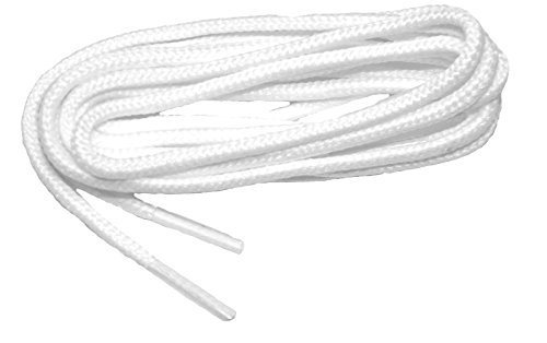 proGOLFER(tm) Casual Oxford 2mm round golf laces Shoelaces Shoestrings - (2 pair pack) (36 Inch 91 cm, Snow White)