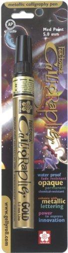 - Sakura Of America Pen-Touch Metallic Marker Medium Point 2mm: Gold Ink
