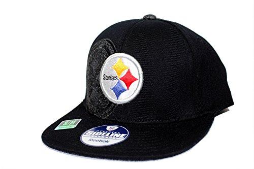 ゆるく通常生き返らせるリーボックNFLピッツバーグ?スティーラーズ帽子キャップフィット大人用ハットキャップS / Mブラック