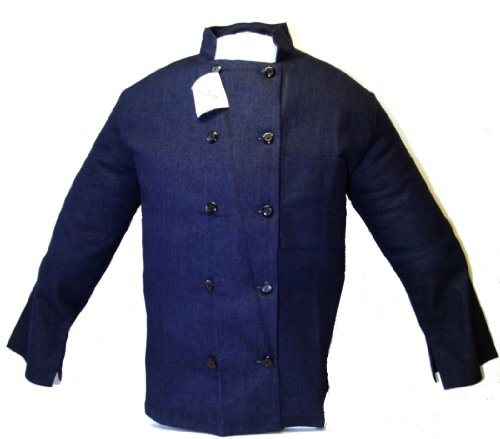 XXLarge XXL 52-54 Soft Comfortable Blue Denim Executive Chef Coat Jacket