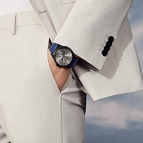 Hugo Boss Mens Quartz Watch, Chronograph Display and Leather Strap 1513684