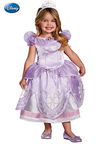 Girl's Disney The First Sofia Deluxe Costume, 3T-4T]()