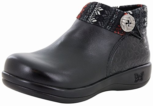 Alegria Womens Sitka Rain Boot Snowflake Black Size 38 EU (8-8.5 M US Women)