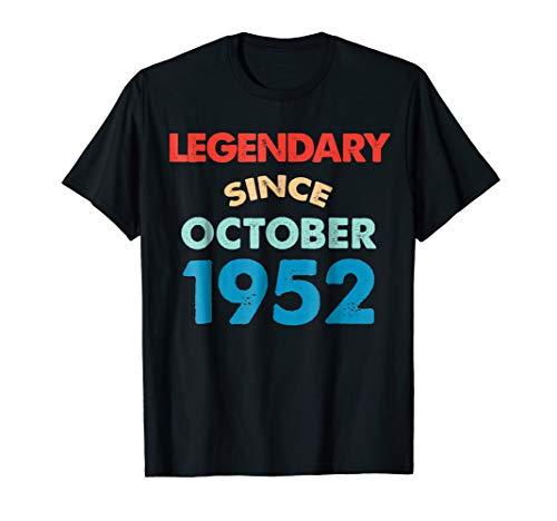 (Legendary Since October 1952 Birthday Shirt Halloween)