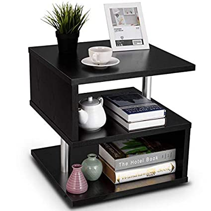 Superbe Giantex 3 Tier End Side Table Sofa Couch Side Table Storage Rack Of Low  Shelf