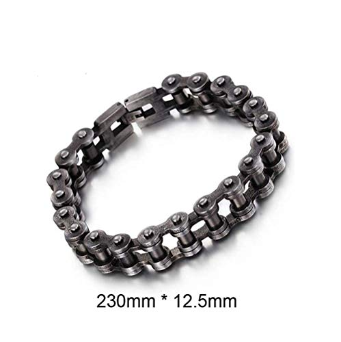 (Guy-Sex Faddish 18Mm 22Mm Heavy Stainless Steel Biker Bracelet Men Bicycle Motorcycle Chain Bracelets Bangles)