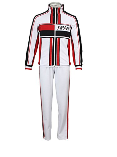 Mtxc Men's The Prince Of Tennis Cosplay Japan U17 Winter Uniforms Size Medium White - Prince Tennis Costume