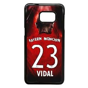 Arturo Vidal caso A8L19O8ST funda Samsung Galaxy S6 Edge Plus funda HI7OUN negro