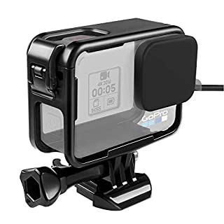Taisioner Protective Case for GoPro Hero 5 6 7 Skylight Top Opening Housing Frame with Lens Cap for GoPro Hero 5/6 / 7 Black