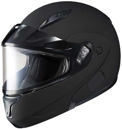 HJC CL-MAX2BTSN Modular Bluetooth Snow Helmet Framed Dual Lens Shield (Matte Black, Large)