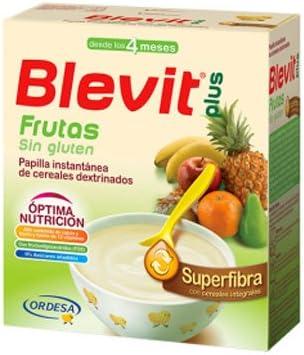 Blevit Plus Superfibra Frutas, 1 unidad 600 gr. Cereales para bebé. A partir de los 4 meses.