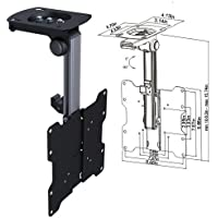 Cmple - Ceiling Cabinet Mount for 17-37 LED ,LCD, PLASMA TVs with Swiveling and Folding mechanism - Black