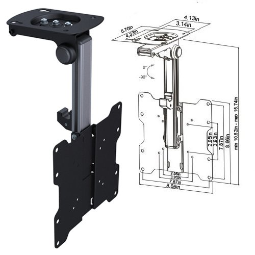 """Cmple - Ceiling Cabinet TV Mount for 17-37"""" LED,LCD, PLASMA"""
