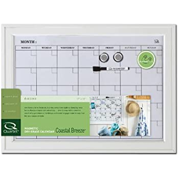 quartet home decor dry erase calendar bulletin board 17 x 23 inches wood frame white hdp1723wm