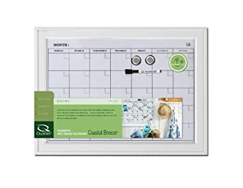 quartet home decor dry erase calendar bulletin board 17 x 23 inches wood frame