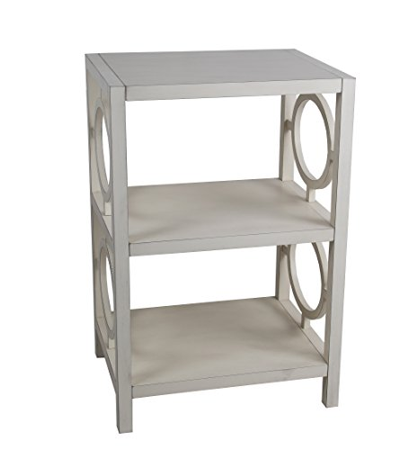 Privilege 28489 Antique pearl, 3 tier accent stand. Easy to assemble, no tools required, 20x16x29.5. by Privilege
