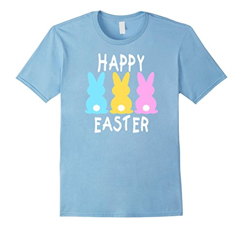 Mens Happy Easter Bunny Tshirt Bunnies Shirt Basket Gift Idea 3XL Baby Blue