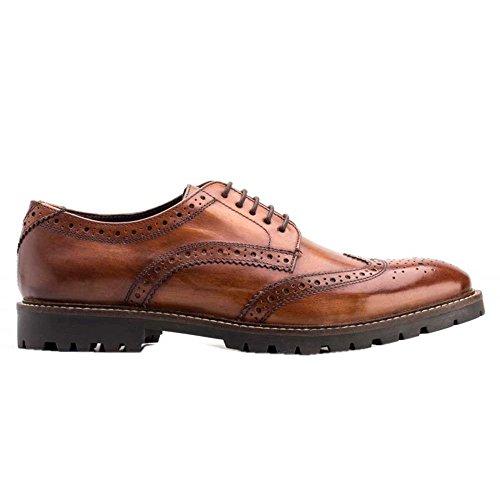 Base London Hombre Zapatos de la zanja, Marrón Marrón