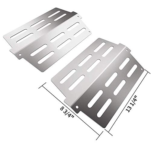 "SHINESTAR Heat Deflector Replacement for Weber Genesis 300 Series Grill 300/310/330, Stainless Steel Flavorizer Bar Heat Plate Replacement for Weber 7622 2011 & Newer Models(2 Pack, 13 1/4"" X 8 3/4"