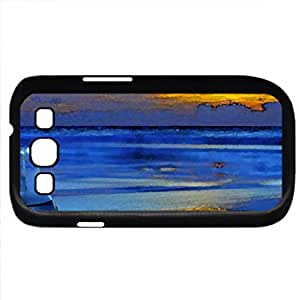 Fish in the jar (Beaches Series) Watercolor style - Case Cover For Samsung Galaxy S3 i9300 (Black)