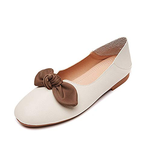work soft shoes FLYRCX flat shoes non comfortable 35 Spring autumn fashion bottom shallow EU slip and mouth 68O6wF