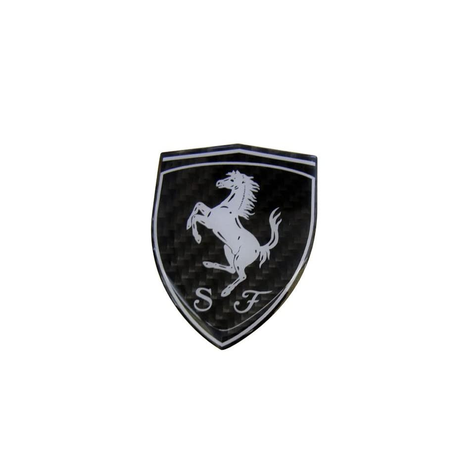 Ferrari Real Carbon Fiber Rare Car Logo Badge Emblem for 512 308 458 599 328 GTS GTO GTB M Dino 612 F430 360 550 355 F1 Spyder Mondial TS Modena F1 Scuderia Spider Challenge Testarossa