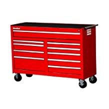 International WRB-5410RD 54-Inch 10 Drawer Roller Cabinet, Red