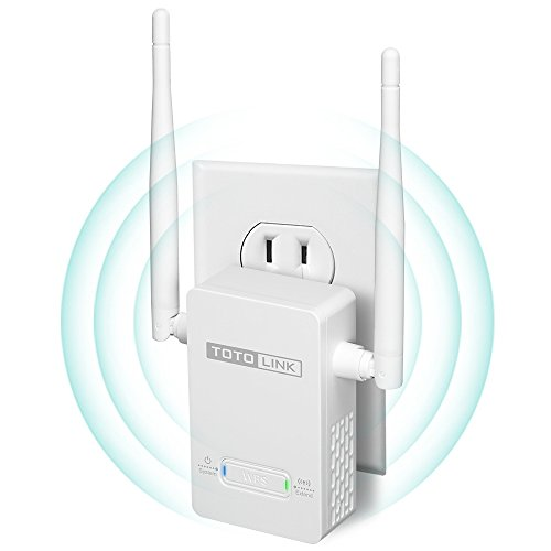 TOTOLINK N300 WiFi Range Extender/Repeater/Booster with Fast Ethernet Port, Boosts 2.4Ghz Signal (EX200)