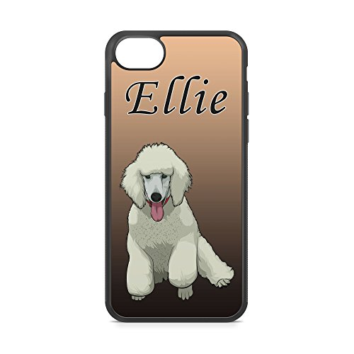 CodeiCases iPhone 6 Plus/6s Plus Poodle Dog With Custom Name Cover, Rubber Black Dog With Name iPhone Case