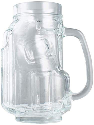 iThoughtful Golf Bag Shaped Glass Beer Mug with Handle, Great for Golfers (16 oz) -
