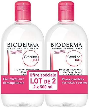 Bioderma Crealine H2O - Solución micelar desmaquillante 2 x 500 ml: Amazon.es: Belleza