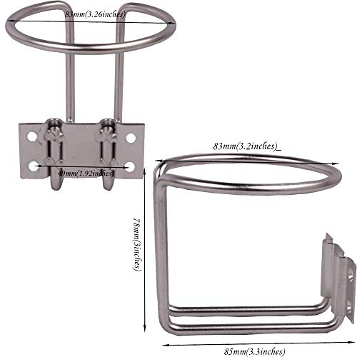Bay-sun 2 Pack Boat Stainless Steel Ring Cup Drink Holder for Marine Yacht Truck RV,Stock in Kentucky State (Best Fishing In Kentucky)