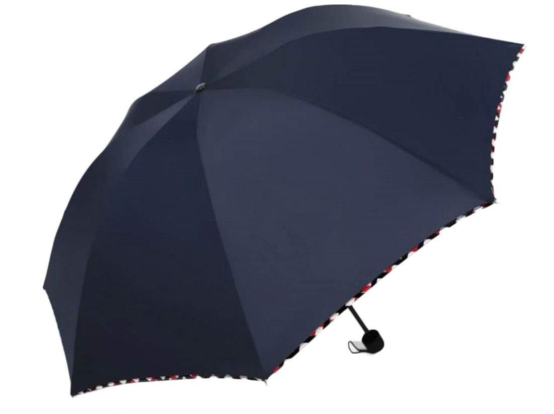 desolateness Waterproof Windproof Umbrella, Lightweight Compact Tarvel Umbrella Navy Blue OS