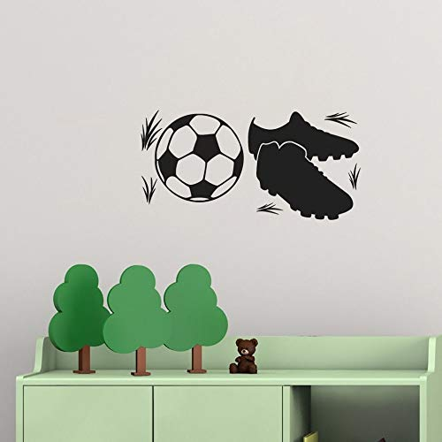 Vinyl Wall Decal Wall Stickers Art Decor Peel and Stick Mural Removable Decals Soccer Ball Sport Shoe Art Home Decoration Boys Room Decor DIY -