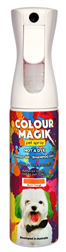 Petway Petcare Pet Paint Spray for Dogs 280 Ml - Color Safe Temporary Dog Hair Color Spray - Non Toxic, Eco Friendly, Propellant Free Dog Paint Burnt Orange]()