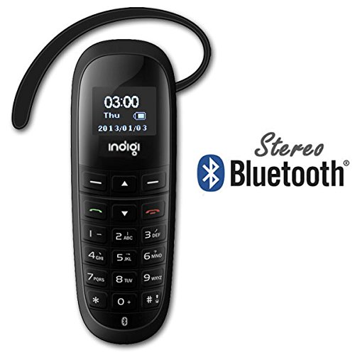"""inDigi A2DP Stereo Bluetooth Headset Mini Phone w/ Dialer Keypad 0.66"""" LCD Caller ID For iPhones & Android Phones (US Seller)"""