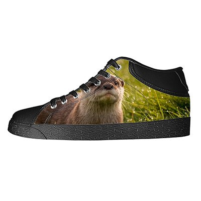 Custom Otter Animal Womens Classic High Top Canvas Shoes Fashion Sneaker (Chargers Shoe San Nike Diego)