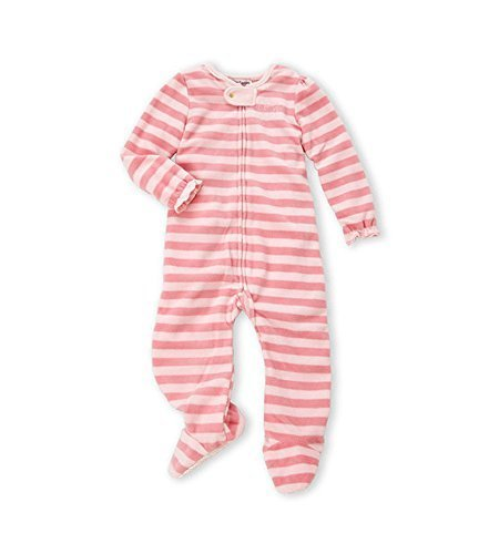 - Juicy Couture Baby Girls Pink Stripe Footie Logo Coverall (6 - 9 Months)