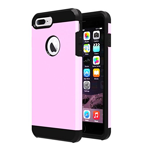 iPhone 7 plus Case,ibarbe HEAVY DUTY EXTREME Hybrid Silicone Rubber Plastic Protection Shock-Absorption Bumper Hard PC Anti-Scratch drops bumps shock Slim Fit Covers for Apple iPhone 7 plus (2016)