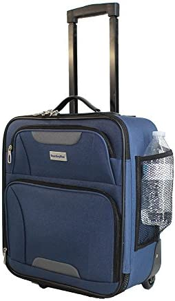 16.5 Airlines Rolling Personal Item Under Seat Mini Luggage NAVY