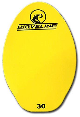 Waveline Wood Skimboard - Bright Neon Color Skim Boards (Yellow, 30'') by Waveline