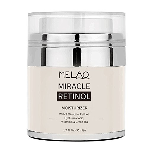 Melao Miracle Retinol Moisturizer Cream for Face - Anti Wrinkle Night and Day Moisturizing Cream 1.7 Fl.Oz. (Morning Miracle Tea)