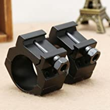 Yosoo 1 Pair of Tactical 30mm Low Profile 6 Bolt Quick Release Scope Mount Rings Fit 20mm Weaver Picatinny Rail