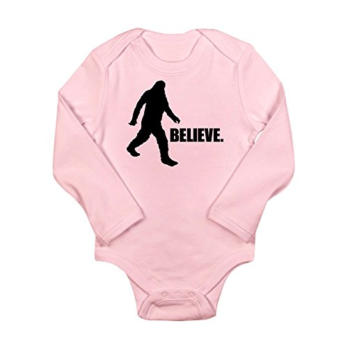 CafePress - BELIEVE IN BIGFOOT Long Sleeve Infant Bodysuit - Cute Long Sleeve Infant Bodysuit Baby Romper - Bigfoot Suit