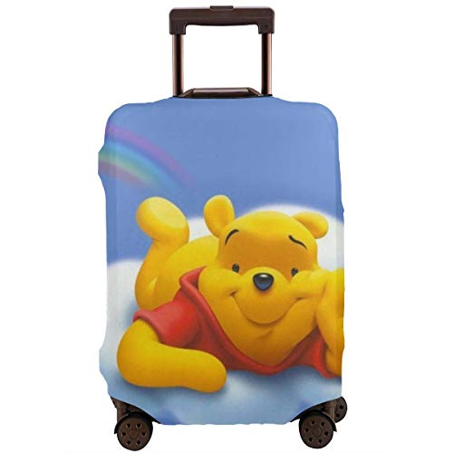 Travel Luggage Cover Flying Winnie Pooh Luggage Protector Suitcase Cover Fits 18-32 Inch Luggage