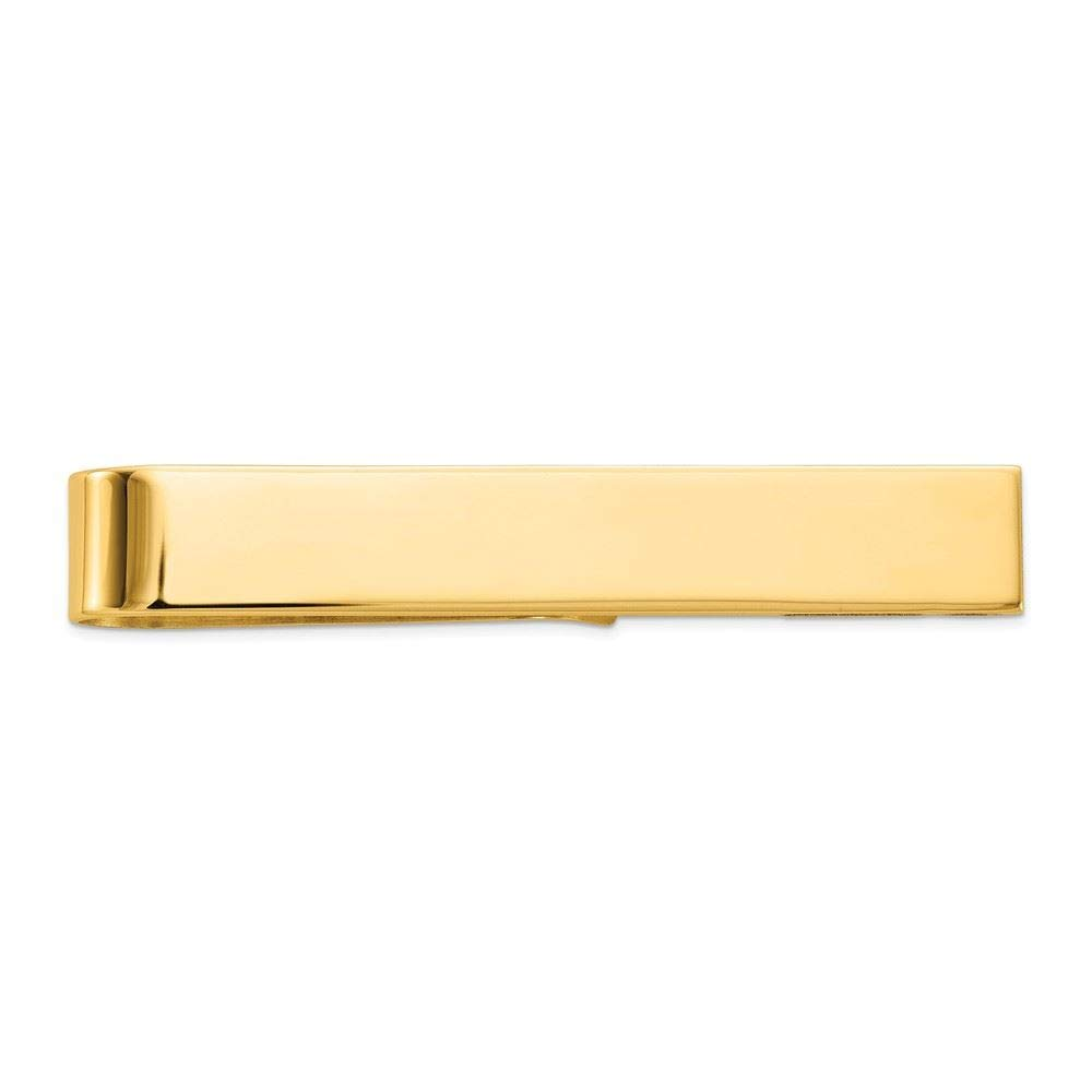 14K Yellow Gold Polished Engravable Tie Bar Clip by Accessory Tie Bar (Image #5)