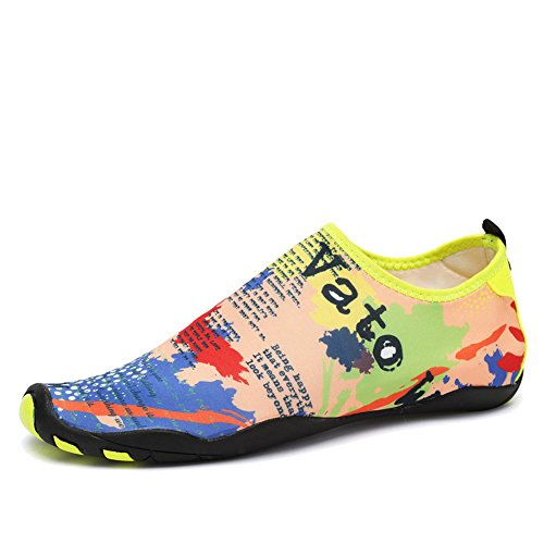Womens Womens Swimming Arch - CIOR Water Shoes Men Women Aqua Shoes Barefoot Quick-Dry Swim Shoes 14 Drainage Holes Boating Walking Driving Lake Beach Garden Park Yoga,SYY04,Yellow,41