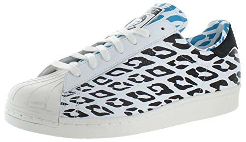Superstar 80s Wc Mens In Bianco / Bianco Vapore / Nero Di Adidas, 10.5