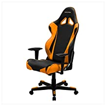 DXRacer Racing Series DOH/RE0/NO Newedge Edition Racing Bucket Seat Office Chair Gaming Chair Ergonomic Computer Chair eSports Desk Chair Executive Chair Furniture With Pillows(Black/Orange)