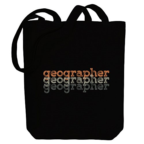 Bag retro Idakoos Canvas Geographer Idakoos Occupations Tote repeat Geographer w6qTWO